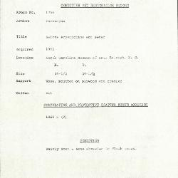Image for K1798 - Condition and restoration record, circa 1950s-1960s