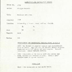 Image for K1792 - Condition and restoration record, circa 1950s-1960s