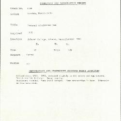 Image for K1780 - Condition and restoration record, circa 1950s-1960s