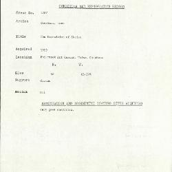 Image for K1787 - Condition and restoration record, circa 1950s-1960s