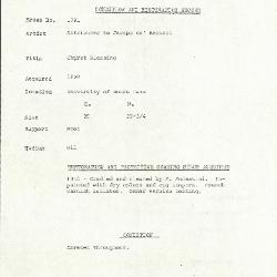 Image for K1791 - Condition and restoration record, circa 1950s-1960s