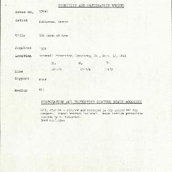Image for K1799B - Condition and restoration record, circa 1950s-1960s