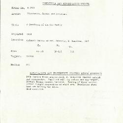 Image for K1802 - Condition and restoration record, circa 1950s-1960s