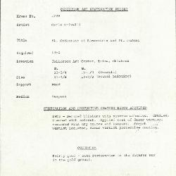 Image for K1789 - Condition and restoration record, circa 1950s-1960s