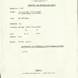 Image for K1788 - Condition and restoration record, circa 1950s-1960s
