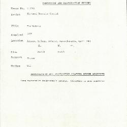 Image for K1783 - Condition and restoration record, circa 1950s-1960s