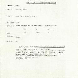 Image for K1793 - Condition and restoration record, circa 1950s-1960s
