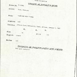 Image for K1816A - Condition and restoration record, circa 1950s-1960s