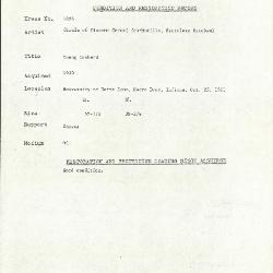 Image for K1826 - Condition and restoration record, circa 1950s-1960s
