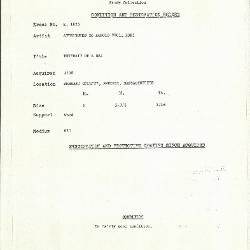 Image for K1825 - Condition and restoration record, circa 1950s-1960s