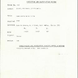 Image for K1808 - Condition and restoration record, circa 1950s-1960s