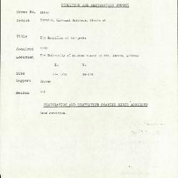 Image for K1815A - Condition and restoration record, circa 1950s-1960s