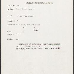 Image for K1843 - Condition and restoration record, circa 1950s-1960s