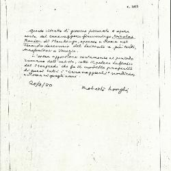 Image for K1823 - Expert opinion by Longhi, 1950