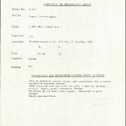 Image for K1839 - Condition and restoration record, circa 1950s-1960s