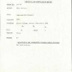 Image for K1816B - Condition and restoration record, circa 1950s-1960s