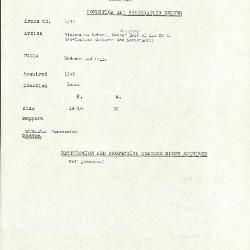 Image for K1832 - Condition and restoration record, circa 1950s-1960s