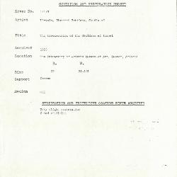 Image for K1815B - Condition and restoration record, circa 1950s-1960s
