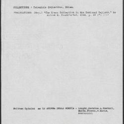Image for K0181 - Art object record, circa 1930s-1950s