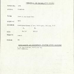 Image for K1806 - Condition and restoration record, circa 1950s-1960s