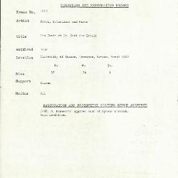 Image for K1813 - Condition and restoration record, circa 1950s-1960s