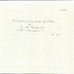 Image for K1815B - Expert opinion by Longhi, circa 1920s-1950s