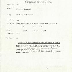 Image for K1805 - Condition and restoration record, circa 1950s-1960s