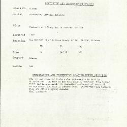 Image for K1811 - Condition and restoration record, circa 1950s-1960s