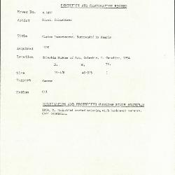 Image for K1814 - Condition and restoration record, circa 1950s-1960s