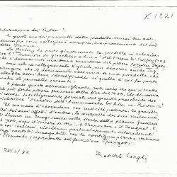 Image for K1821 - Expert opinion by Longhi, 1950