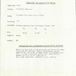 Image for K1819 - Condition and restoration record, circa 1950s-1960s
