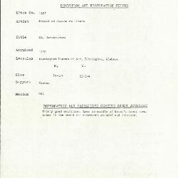 Image for K1827 - Condition and restoration record, circa 1950s-1960s