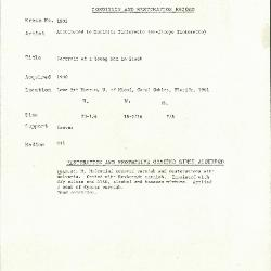 Image for K1803 - Condition and restoration record, circa 1950s-1960s