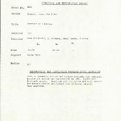 Image for K1853 - Condition and restoration record, circa 1950s-1960s