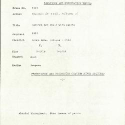 Image for K1901 - Condition and restoration record, circa 1950s-1960s