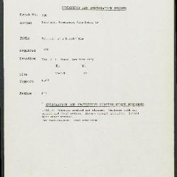 Image for K0188 - Condition and restoration record, circa 1950s-1960s