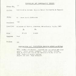 Image for K0190 - Condition and restoration record, circa 1950s-1960s
