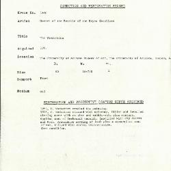 Image for K1860 - Condition and restoration record, circa 1950s-1960s