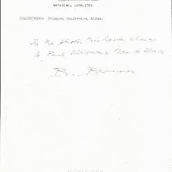Image for K0190 - Expert opinion by Berenson, circa 1920s-1950s