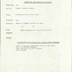 Image for K1869 - Condition and restoration record, circa 1950s-1960s