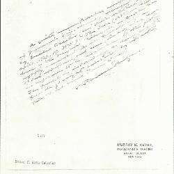 Image for K0187 - Expert opinion by Perkins, circa 1920s-1940s