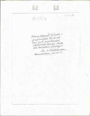 Image for K1903 - Expert opinion by Friedlaender, 1950