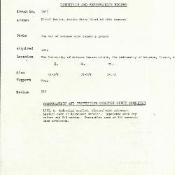 Image for K1873 - Condition and restoration record, circa 1950s-1960s