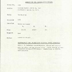 Image for K1856 - Condition and restoration record, circa 1950s-1960s