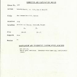 Image for K1887 - Condition and restoration record, circa 1950s-1960s