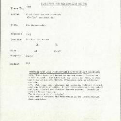 Image for K1877 - Condition and restoration record, circa 1950s-1960s