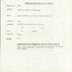 Image for K1882 - Condition and restoration record, circa 1950s-1960s