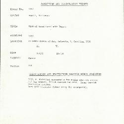Image for K1947 - Condition and restoration record, circa 1950s-1960s