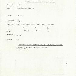 Image for K1948 - Condition and restoration record, circa 1950s-1960s