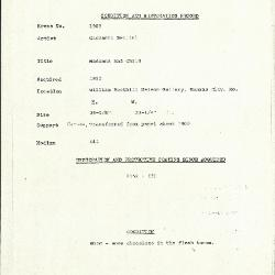Image for K1905 - Condition and restoration record, circa 1950s-1960s